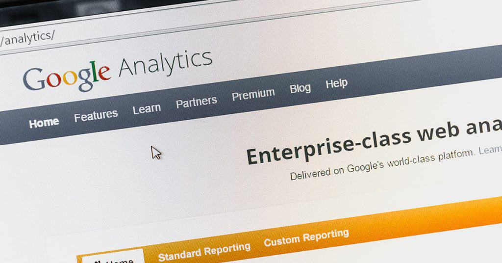 This is an image of the Google Analytics 4 page header