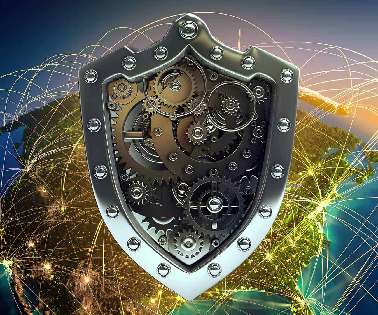 This is an image of the world wide digital net, and dangers it represents